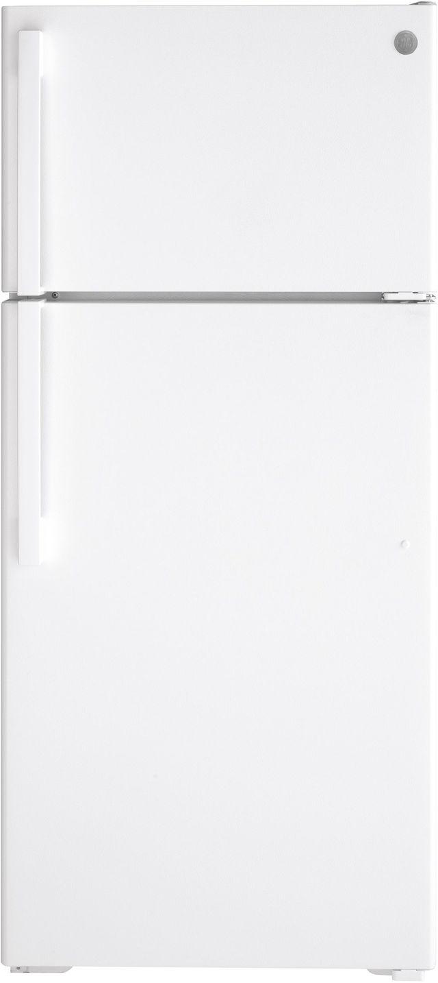 GE® 16.63 Cu. Ft. White Top Freezer Refrigerator-GTE17DTNRWW