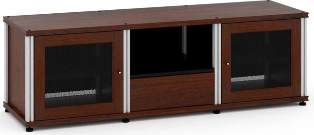 Salamander Designs® Synergy Model 236 AV Cabinet-Dark Walnut/Aluminum-SB236W/A