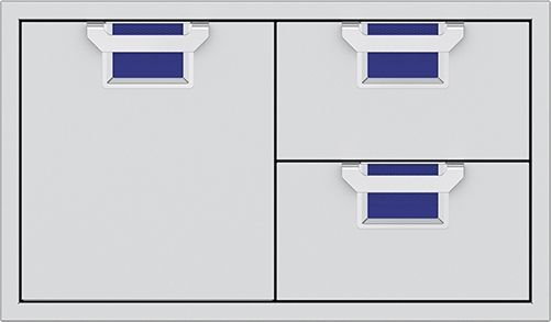 """Aspire By Hestan AESDR Series 36"""" Pince Double Drawer and Storage Door Combination-AESDR36-BU"""