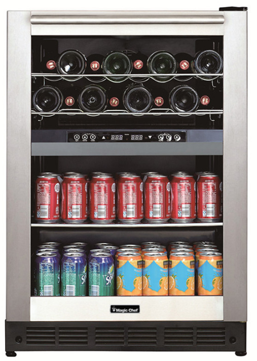 Magic Chef® 5.8 Cu. Ft. Stainless Steel Frame Wine and Beverage Center-BTWB530ST1-12-5312