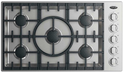 """DCS 36"""" Drop In Cooktop-Stainless Steel-CDV2-365-L"""