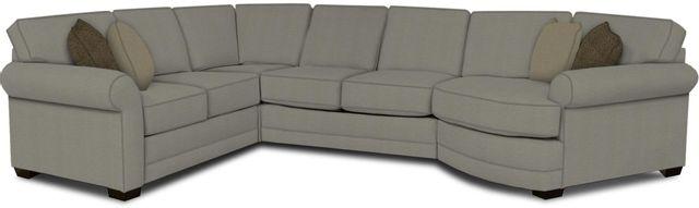 England Furniture Co. Brantley 4 Piece Culpepper Cement/Alvarado Mineral/Veranda Charcoal Sectional-5630-28-22-43-95+8612+8591+8601