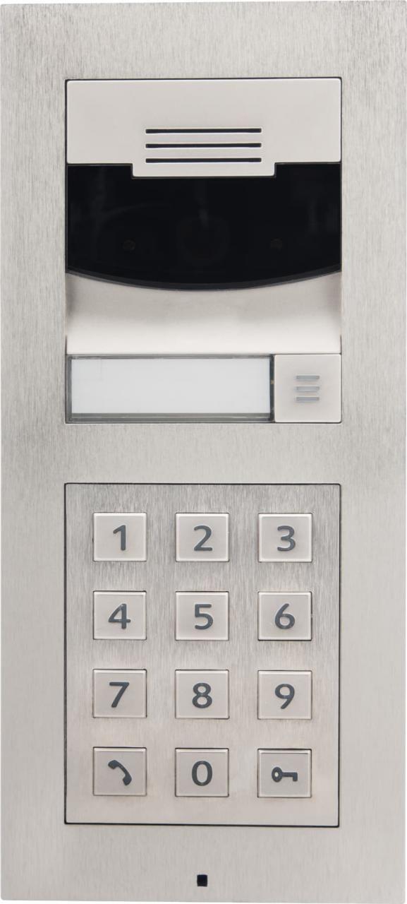 Control4® DS2 Brushed Nickel Door Station Keypad Surface Mount Bundle-C4-DS2BSMKP-BN