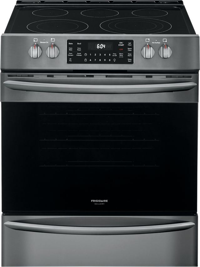"""Frigidaire Gallery® 30"""" Black Stainless Steel Free Standing Electric Range with Air Fry-FGEH3047VD"""