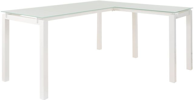 "Signature Design by Ashley® Baraga White 61"" Home Office L-Desk-H410-24"