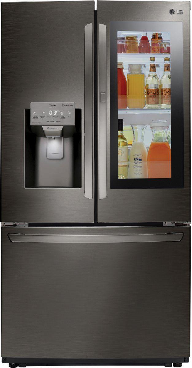 LG 21.9 Cu. Ft. Black Stainless Steel Counter Depth French Door Refrigerator-LFXC22596D