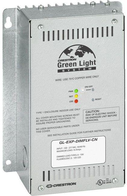 Crestron® Green Light® 0-10V Dimmer Expansion Module-GL-EXP-DIMFLV-CN