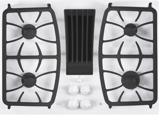 """GE Profile™ Series 30"""" White Gas Cooktop-PGP9830TJWW"""
