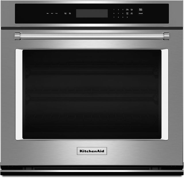 """KitchenAid® 27"""" Stainless Steel Electric Single Oven Built In-KOST107ESS"""