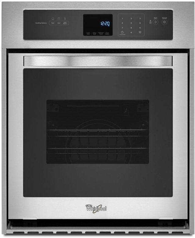 """Whirlpool® 24"""" Electric Built In Oven-Stainless Steel-WOS51ES4ES"""