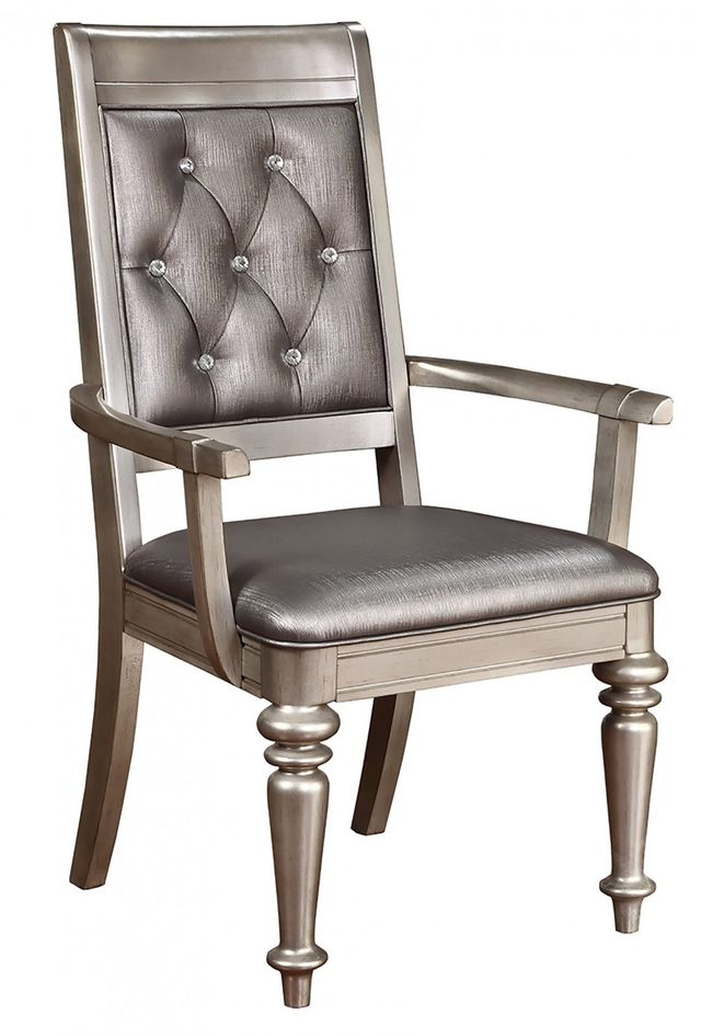 Coaster® Danette Metallic Platinum Arm Chair-106473
