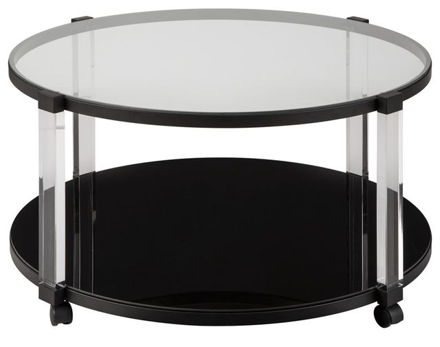 Signature Design by Ashley® Delsiny Black Round Cocktail Table-T289-8