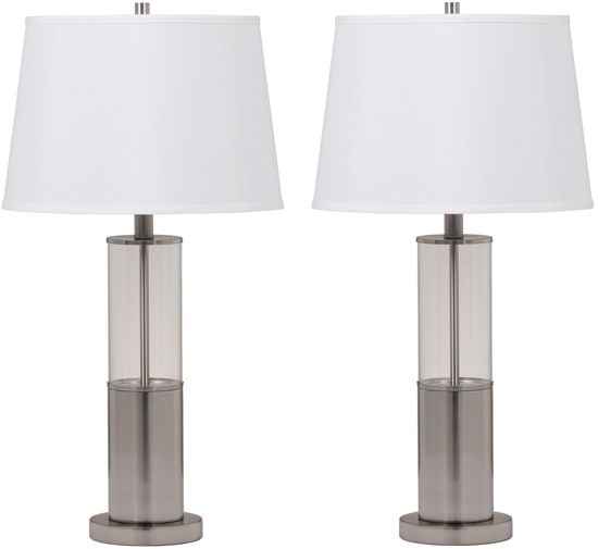 Signature Design by Ashley® Norma Set of 2 Silver Table Lamps-L431354