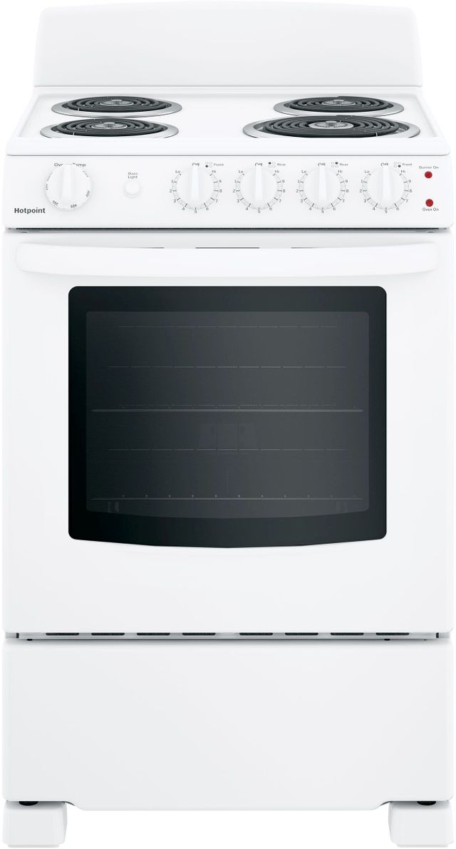 """Hotpoint® 24"""" White Free Standing Electric Range-RAS240DMWW"""