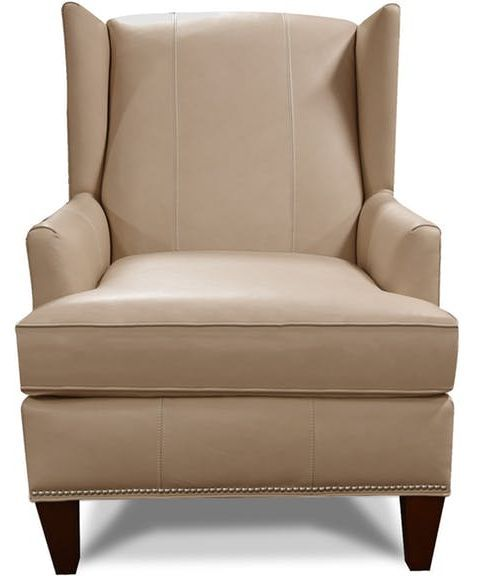 England Furniture® Olive Leather Chair with Nails-474ALN