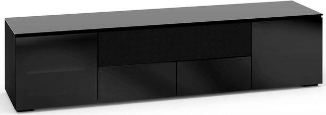 Salamander Designs® Oslo 245 AV Cabinet-Black Glass-C/OS245/BG