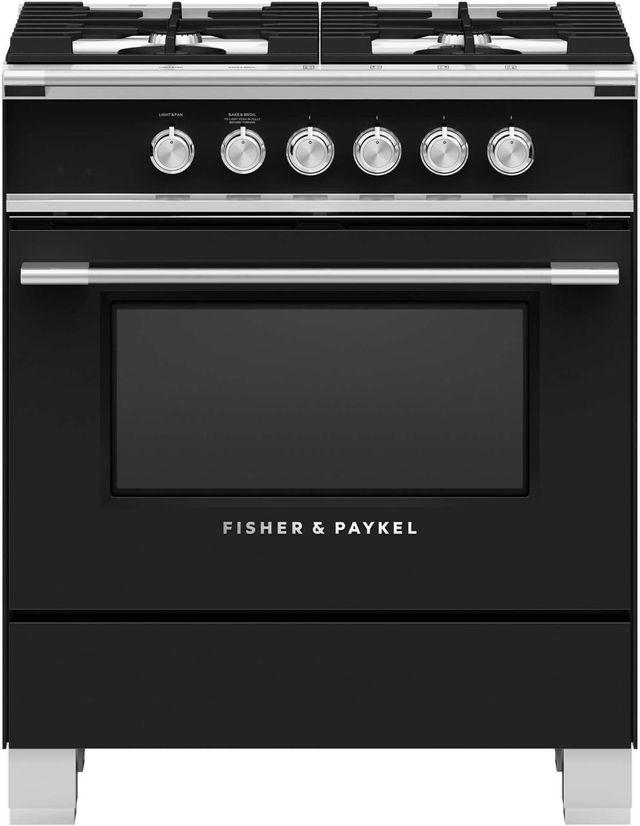 "Fisher Paykel 30"" Free Standing Gas Range-Black-OR30SCG4B1"