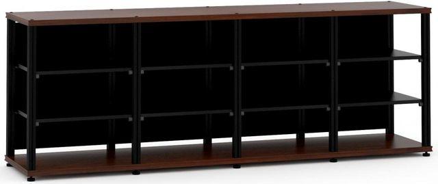 Salamander Designs® Synergy Quad 30 AV Cabinet-Dark Walnut/Black-SQ30W/B