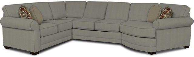 England Furniture Co. Brantley 4 Piece Culpepper Cement/Alvarado Mineral/Enhance Greystone Sectional-5630-28-22-43-95+8612+8109+8601