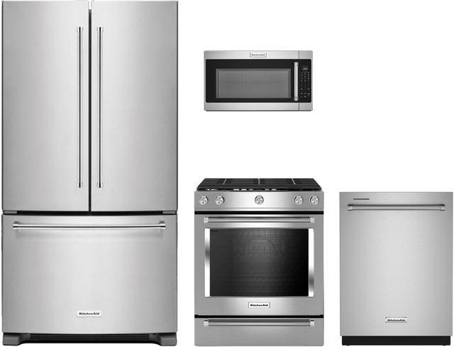 KitchenAid® 4 Piece Stainless Steel Kitchen Package-KIKITKSGG700ESS2