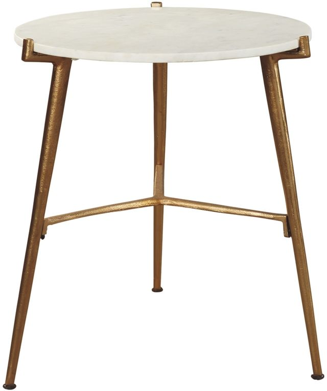 Signature Design by Ashley® Chadton White/Gold Accent Table-A4000004