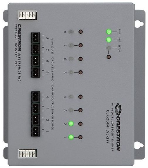 Crestron® 8 Channel 0-10V Dimmer Module-CLX-2DIMFLV8-277