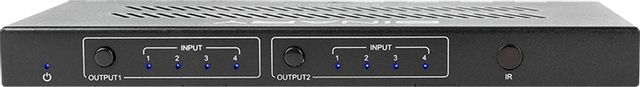 SnapAV Binary™ 660 Series Black 4x2 4K HDR HDMI Matrix Switcher-B-660-MTRX-4X2