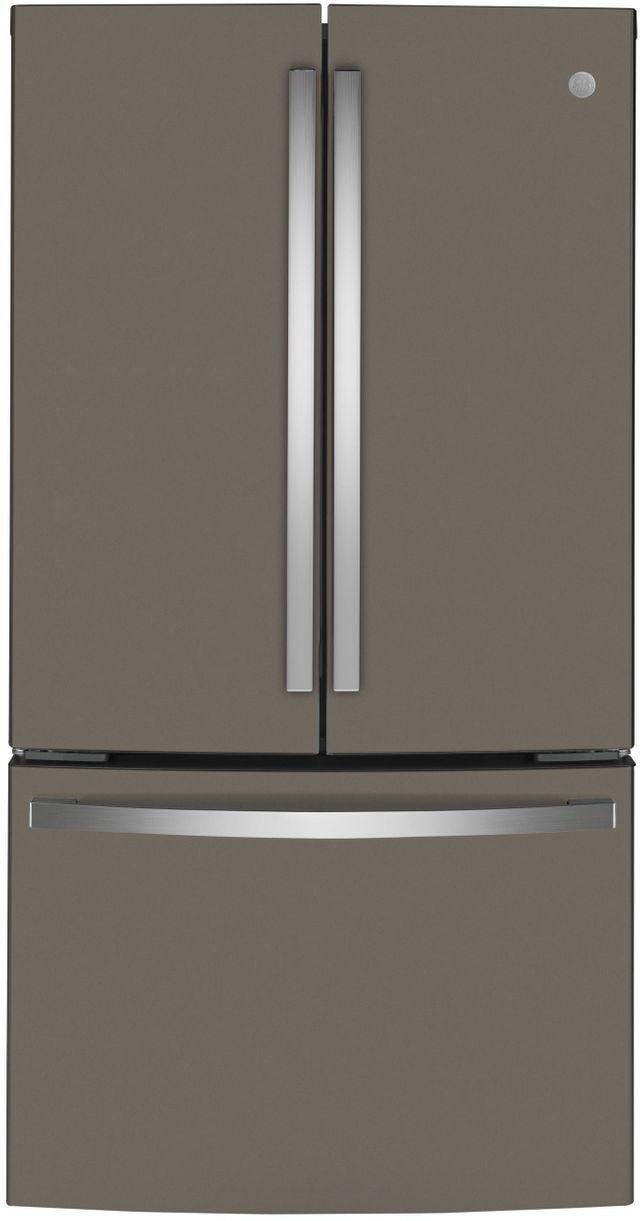 GE® 23.10 Cu. Ft. Fingerprint Resistant Slate Counter Depth French Door Refrigerator-GWE23GMNES