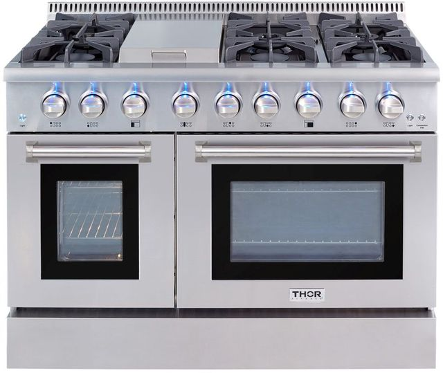"""Thor Kitchen® 48"""" Stainless Steel Pro Style Dual Fuel Range-HRD4803U"""