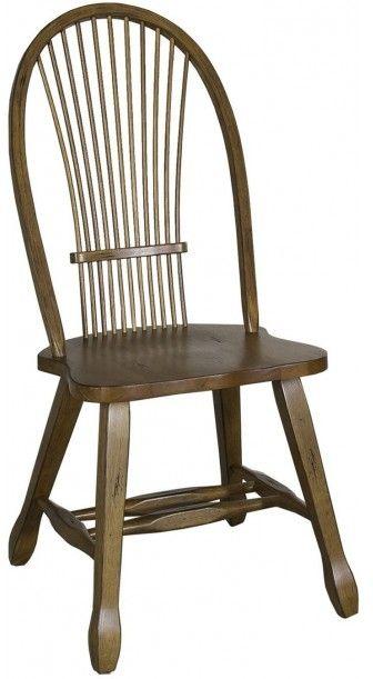 Liberty Furniture Treasures Rustic Oak Bow Back Side Chair-Black-17-C1032