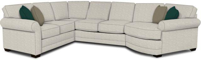 England Furniture Co. Brantley 4 Piece Culpepper Snow/Alvarado Mineral/Milos Denim Sectional-5630-28-22-43-95+8613+8643+8601