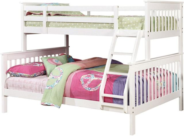 Coaster® Chapman White Twin-Over-Full Youth Bunk Bed-460260