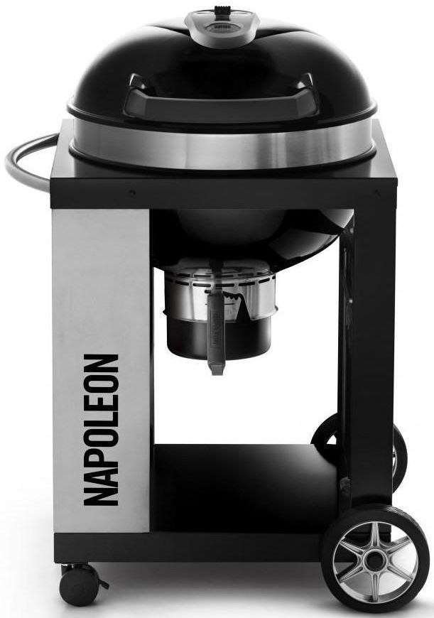 Napoleon Pro Charcoal Kettle Grill-Black-PRO22K-CART-2