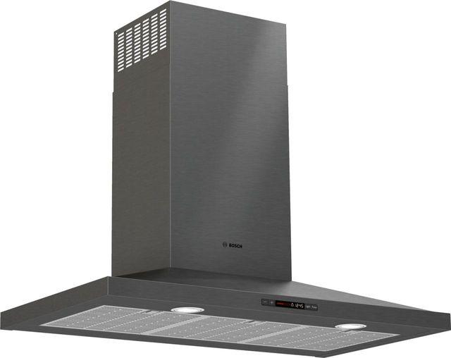 "Bosch 800 Series 36"" Black Stainless Steel Pyramid Canopy Chimney Hood-HCP86641UC"