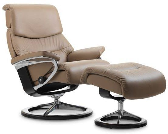 Stressless® by Ekornes® Capri Large Signature Base Chair and Ottoman-1311315