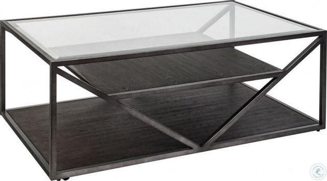 Liberty Furniture Arista Cobblestone Rectangular Cocktail Table-37-OT1010