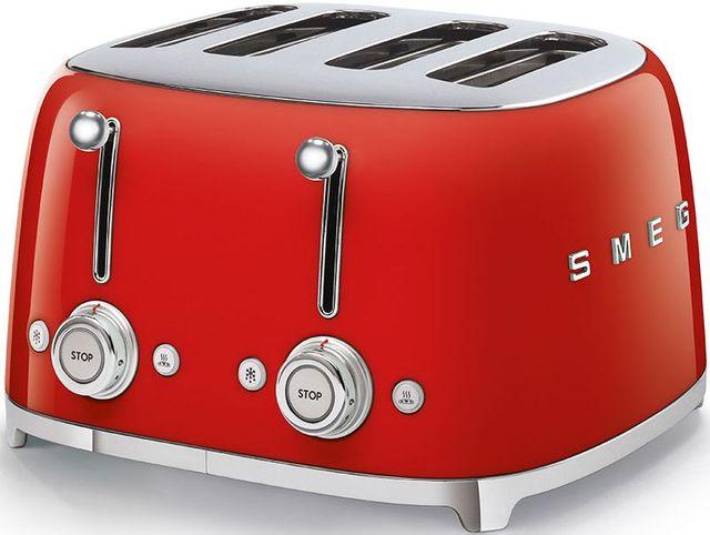 Smeg 50's Retro Style Aesthetic Red 4x4 Slice Toaster-TSF03RDUS