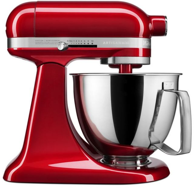 KitchenAid® Artisan® Mini Candy Apple Red 3.5 Quart Stand Mixer-KSM3316XCA