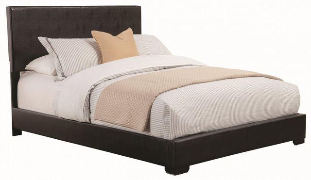 Coaster® Conner Dark Brown Eastern King Upholstered Bed-300261KE