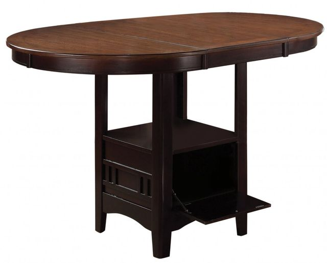 Coaster® Lavon Light Chestnut and Espresso Counter Height Table-105278