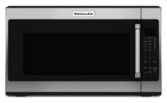 Four à micro-ondes à hotte intégrée de 30 po KitchenAid® de 2,0 pi³ - Acier inoxydable-YKMHS120ES