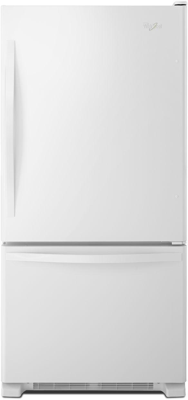 Whirlpool® Gold® 22.07 Cu. Ft. Bottom Freezer Refrigerator-White-WRB322DMBW