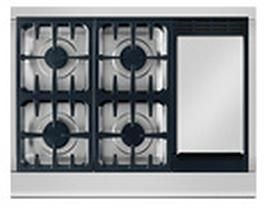 """DCS Professional 36"""" Gas Cooktop-Stainless Steel-CPV-364GDL"""