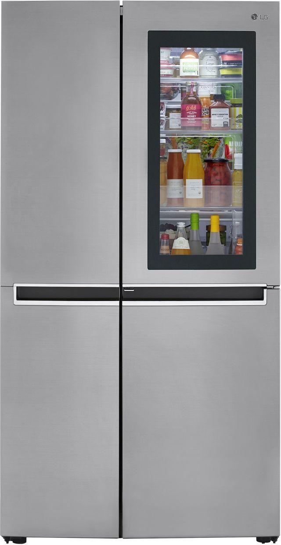 Réfrigérateur côte-à-côte de 36 po LG® de 26,8 pi³ - Argent platine-LRSES2706V