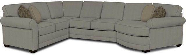 England Furniture Co. Brantley 4 Piece Culpepper Cement/Alvarado Mineral/Jackie Denim Sectional-5630-28-22-43-95+8612+8450+8601