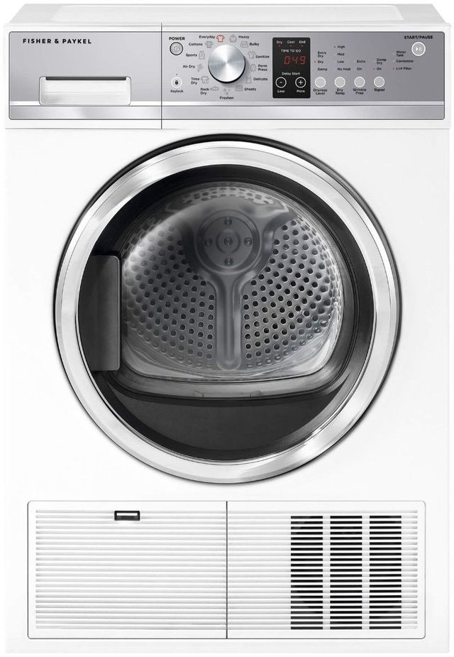 Fisher & Paykel Front Load Electric Condensing Dryer-White-DE4024P1
