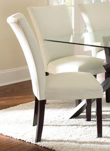 Steve Silver Co. Berkeley Bonded Parsons Chair-White-BE550SN