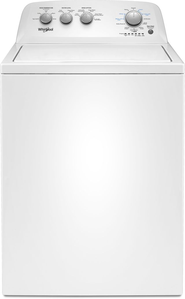 Whirlpool® 3.8 Cu. Ft. White Top Load Washer-WTW4855HW