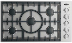 """DCS 36"""" Drop In Cooktop-Stainless Steel-CDV2-365H-L"""