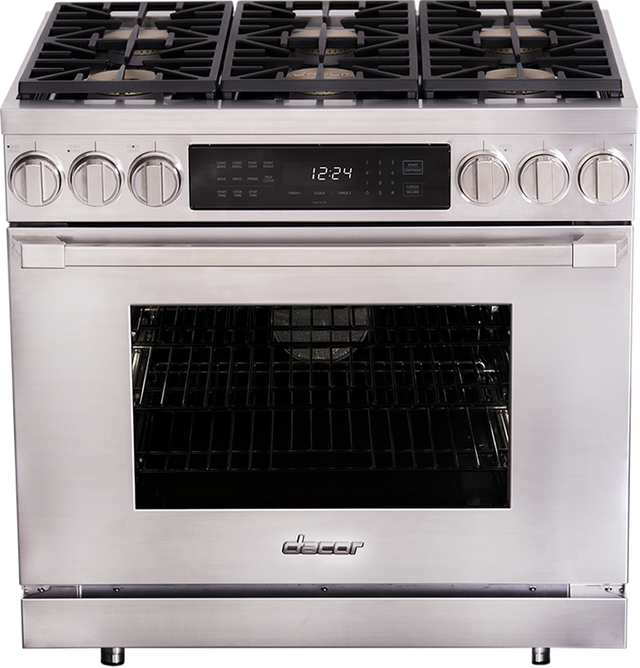 """Dacor® Professional 36"""" Dual Fuel Pro Range-Stainless Steel-HDPR36S/NG"""